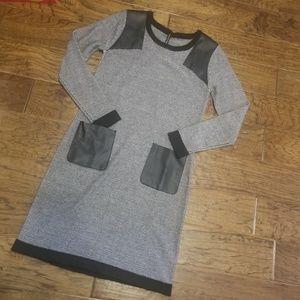 W118 Walter Baker Black&White Sweater Dress